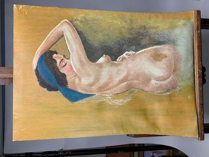 Lot de trois tableaux : - Louis AZÉMA (1876-1963)...