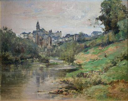 Maurice LÉVIS (1860-1940)  Bords de la Vézère...