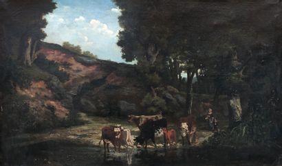 Ecole française du milieu du XIXe siècle...