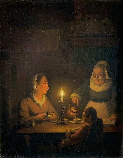 Pieter Gerard SJAMAAR (1817-1896)  L'heure...
