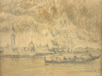 Amédée ROSIER (1831-1898)  Vue de Venise....