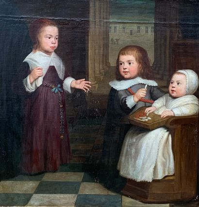 Ecole hollandaise du XVIIe siècle  Portraits...