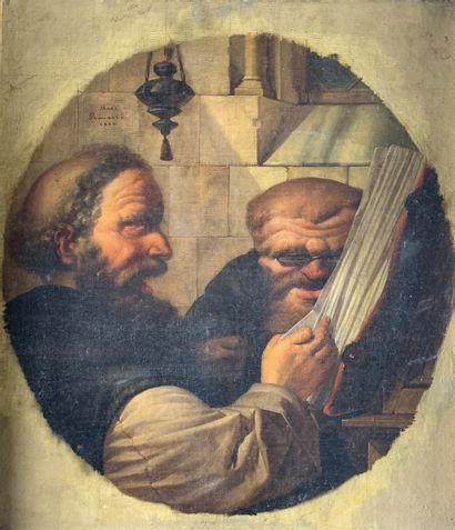 Marco RAVAZZI (1815-?)  L'étude des moines,...