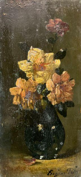 Eugène PETIT (1839-1886)  Bouquet de fleurs...