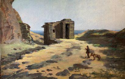 Adolphe LALIRE (1848-1933)  La côte italienne....