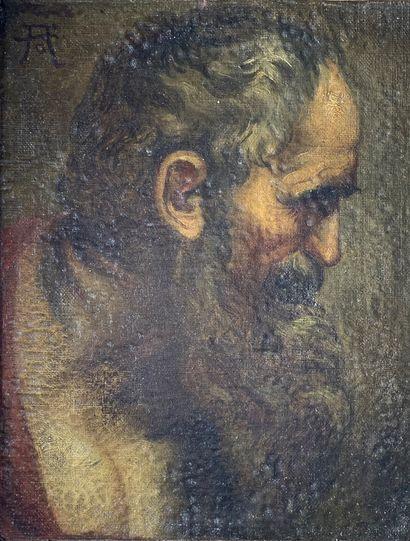 Ecole du XVIIe siècle  Figure d'apôtre.  Peinture...