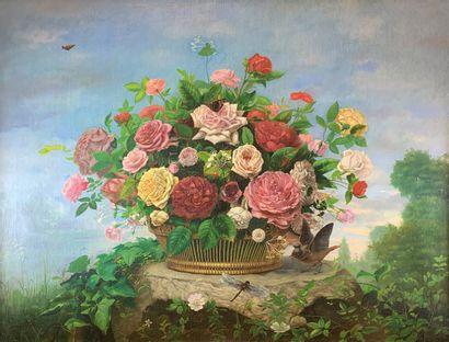 Franck REGERT (XIXe siècle)  Corbeille de...