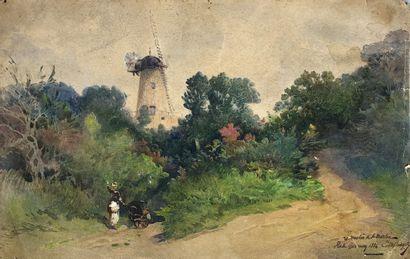 Ecole française du XIXe siècle  Le moulin...
