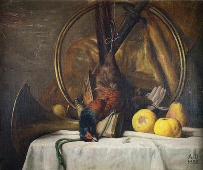 Ecole française du XIXe siècle  Natures mortes...