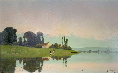 Jacques Henri DELPY (1877-1957)  Lavandières...
