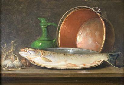 Jules Olivier de COCQUEREL (1838-1903)  Nature...