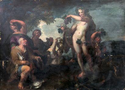 Ecole génoise vers 1700  Offrandes à Bacchus....