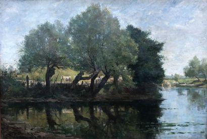 Marie Emmanuel G. COMOY (1856-1903)  Vaches...