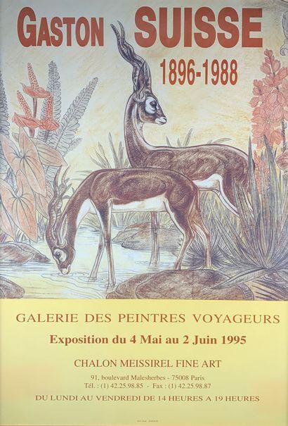 Gaston SUISSE (1896-1988) Affiche encadrée...