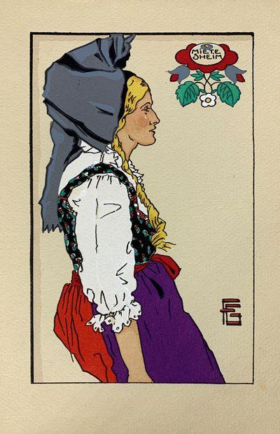 Georges GÉO-FOURRIER (1898-1966) Sept estampes...