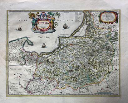 Carte de l'Essex et carte de la Prusse XVIIe...