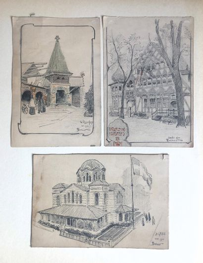 Pierre Desbois (1873-1939).  Les pavillons...