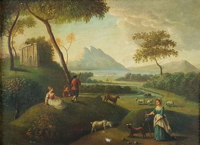 Ecole anglaise du XVIIIe siècle  Pastorale....