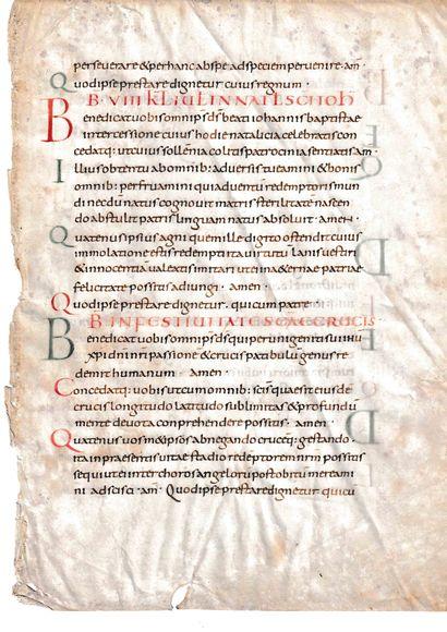 Fragment d'un collectaire carolingien, seconde...