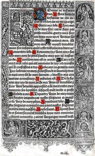[HEURES] Fragment du début des psaumes pénitentiels...