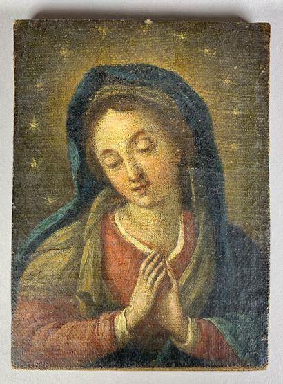 Ecole du XVIIIe siècle  Vierge en prière....