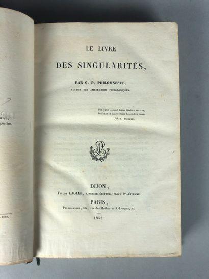 (Étienne-Gabriel PEIGNOT). G. P. PHILOMNESTE....