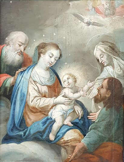Ecole espagnole du XVIIIe siècle  Nativité....
