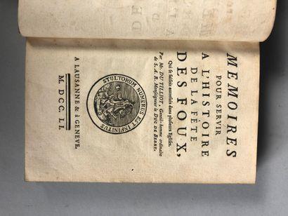 Jean-Baptiste DU TILLIOT. Mémoires pour servir...