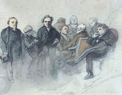 Henry Bonaventure MONNIER (1805-1877)  Antichambre....