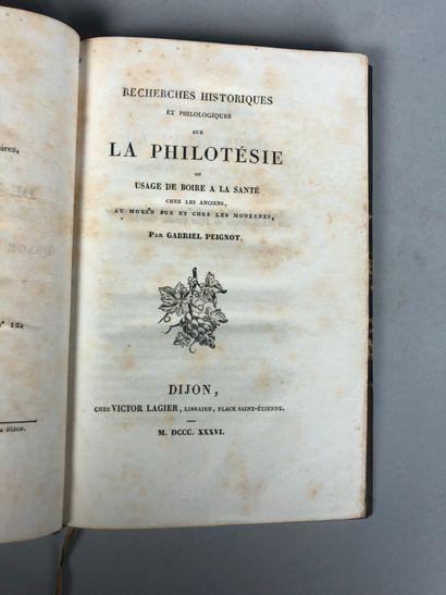 Gabriel PEIGNOT. Recherches historiques et...