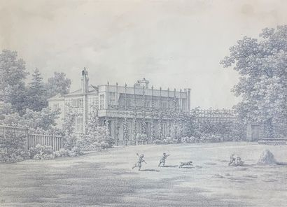 Ecole du XIXe siècle  La Villa Pichot à Bellevue....