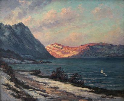 Jean Marius BUGNARD (1880-1947)  Lac de montagne...
