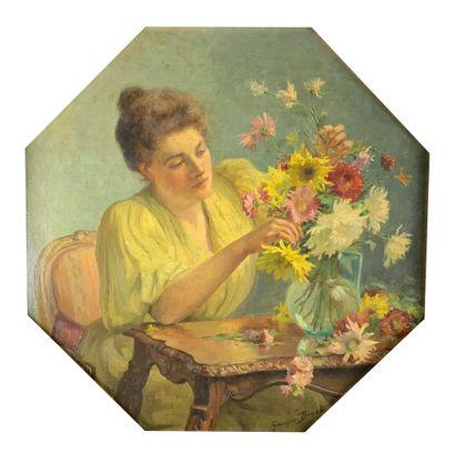 Georges BINET (1865-1949)  Femme préparant...