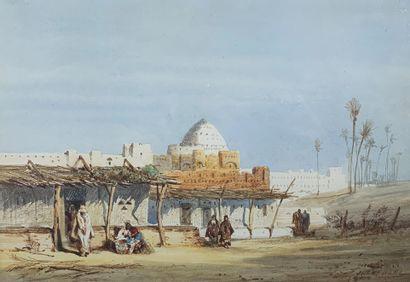 Jules Achille NOËL (1810-1881)  Une oasis...