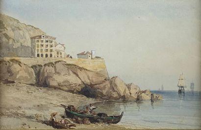 William WILD (XIXe siècle)  Côte méditerranéenne....
