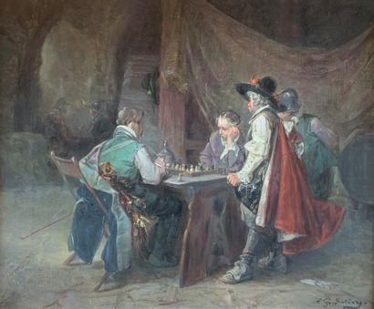 Luigi G. BALDERO (XIX-XXe siècles)  Les joueurs...
