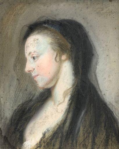 Ecole française du XIXe siècle  Femme à la...