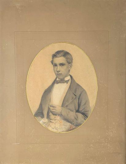 Ecole du XIXe siècle  Portrait présumé de...