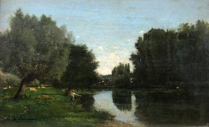 Alfred GARCEMENT (1842-1927)  Pêche à la...