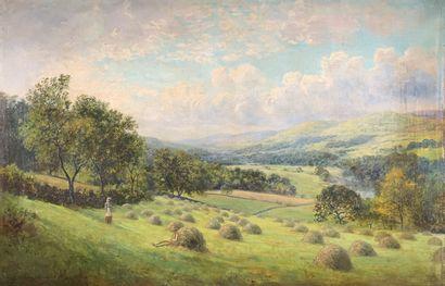 John Clayton ADAMS (1840-1906)  La fenaison....