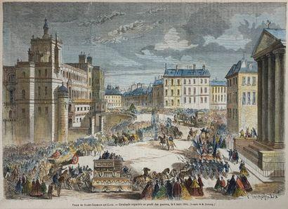 Ensemble de huit estampes sur Saint-Germain-En-Laye...