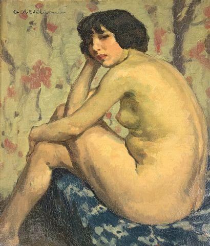Charles Auguste EDELMANN (1879-1950)  Nu...