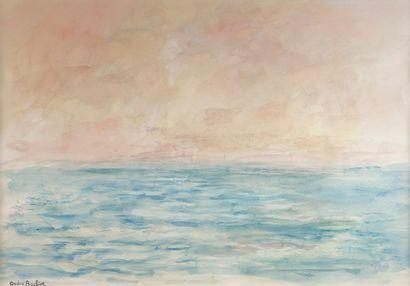 André BARBIER (1883-1970)  La mer au crépuscule....