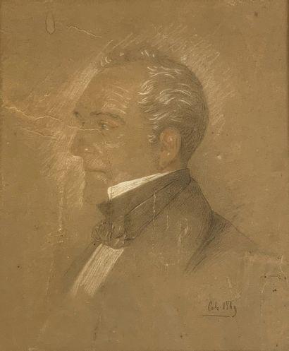 Adolphe Félix CALS (1810-1880)  Portrait...