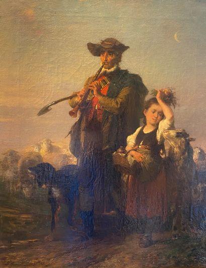Johann Gustav GRUNEWALD (1805-1878)  Berger...