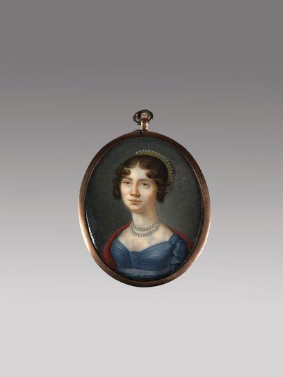 Ecole française vers 1800  Portrait de femme...