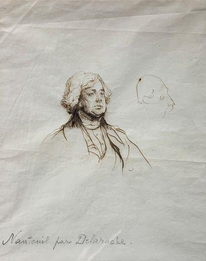 Paul DELAROCHE (1797-1856) (Attribué à)  Etude...