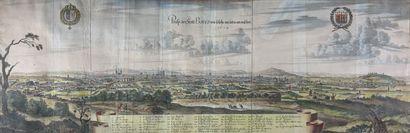 Ecole du XVIIe siècle  Vue cavalière de Paris....