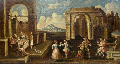 Ecole française du XVIIe siècle  Musiciens...