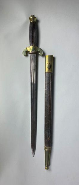 Epée-dague avec fourreau.  XIXe siècle.  L...